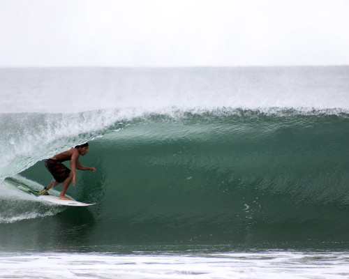 A surfer in Mexico