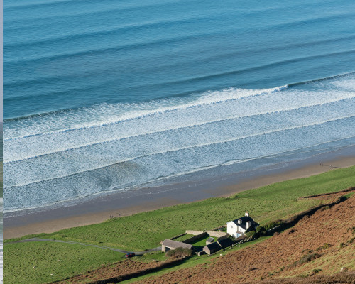 surf break in Wales