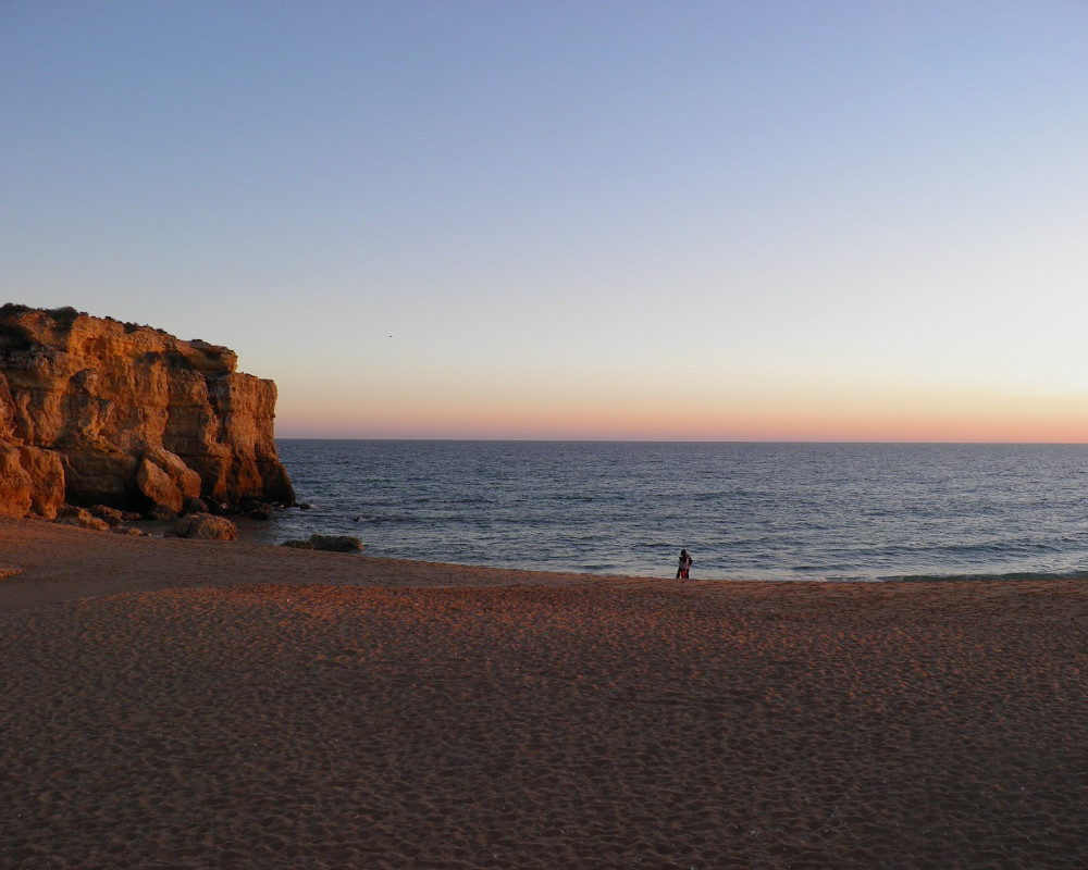 Albufeira beach sunset