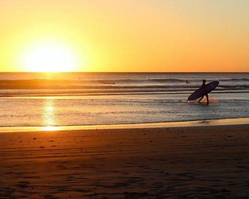 Sunset Nicaragua beach
