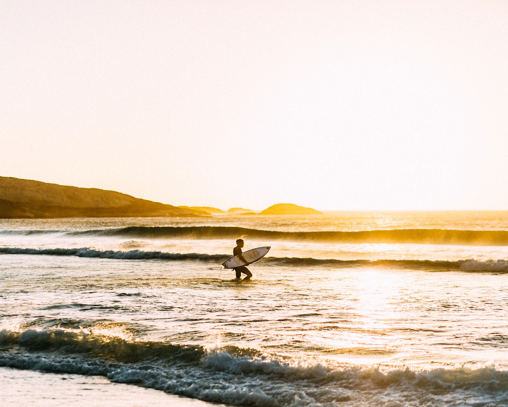 Surfer in Africa