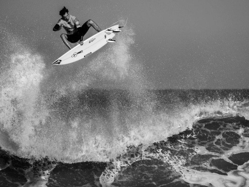 A surfer in Lacanau