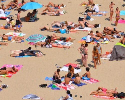 Biarritz beaches in summer