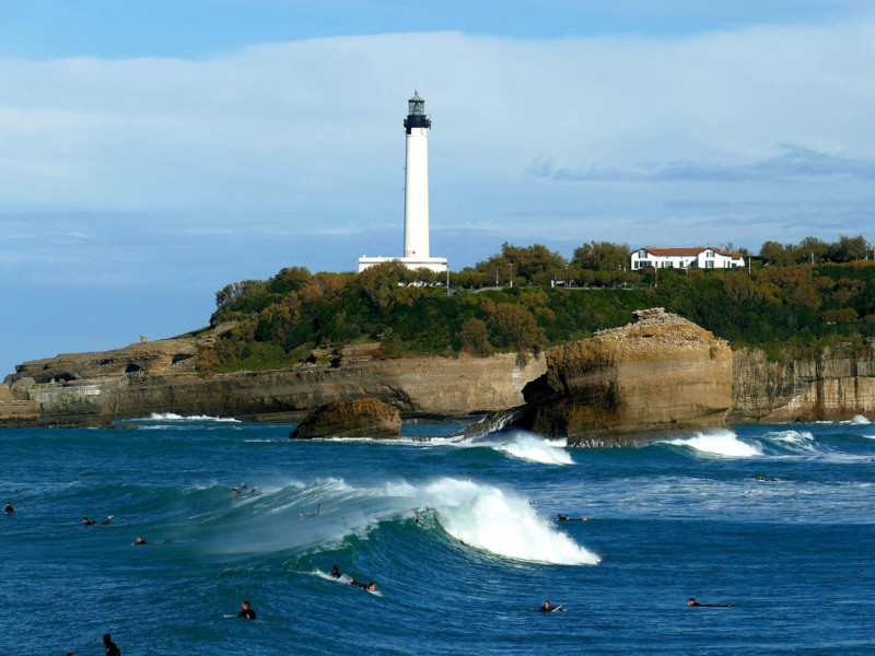 Biarritz surf line up