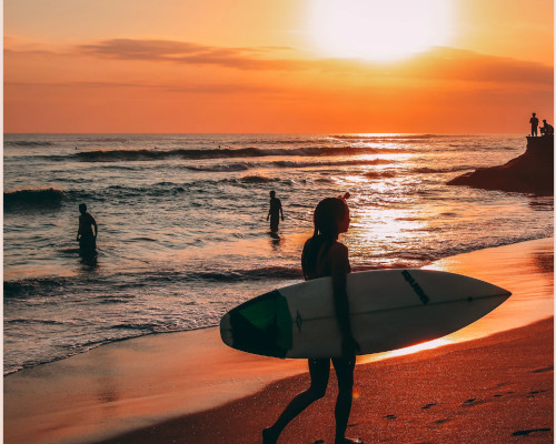 Echo Beach at sunset