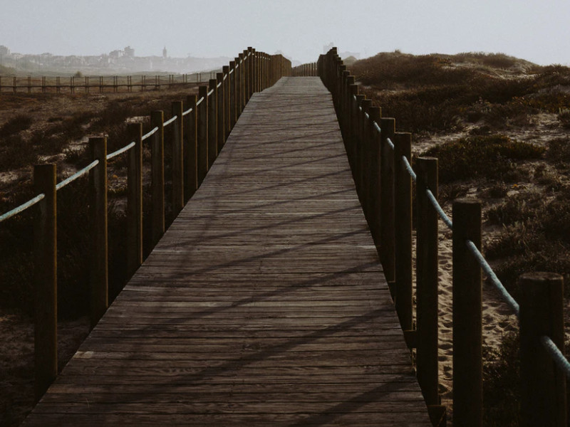 Espinho beach boardwalk