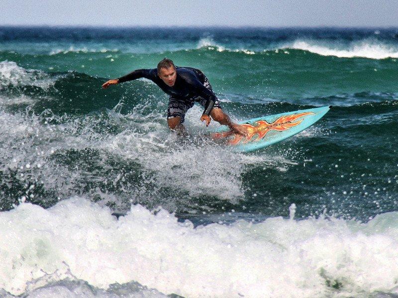 Surfer in Biarritz