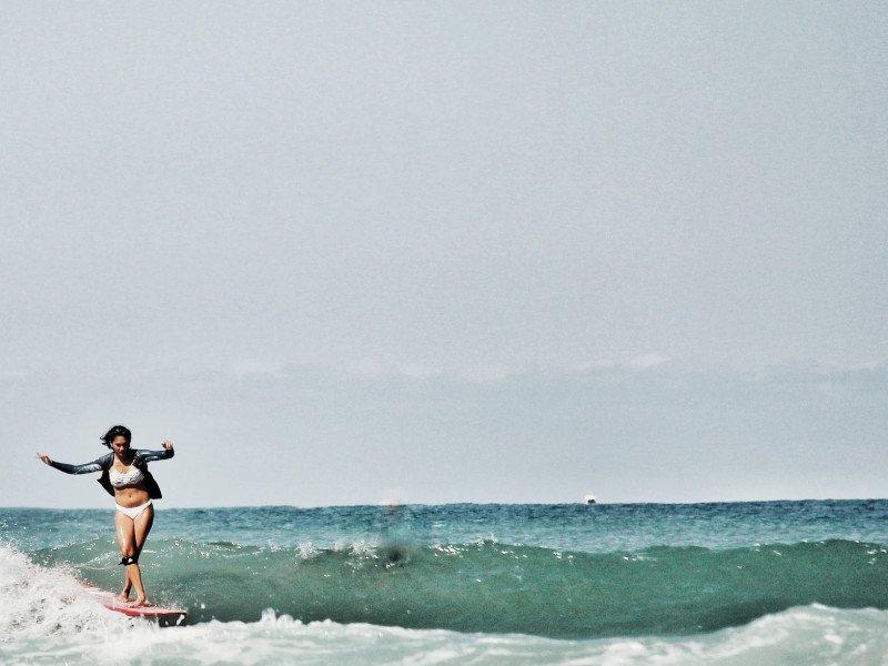 Surfer in France in summer