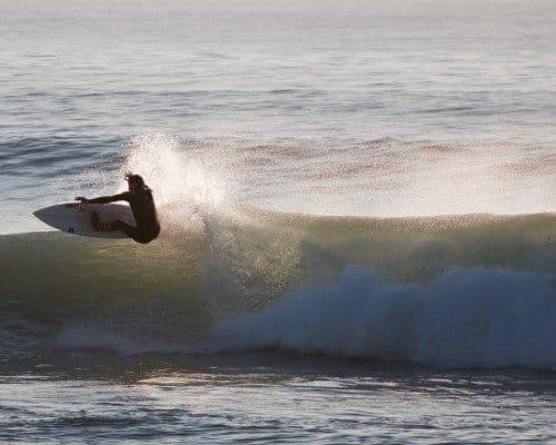 Surfing in Brittany