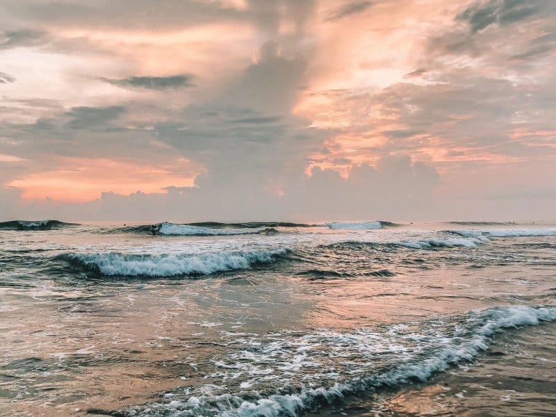 The waves in Canggu