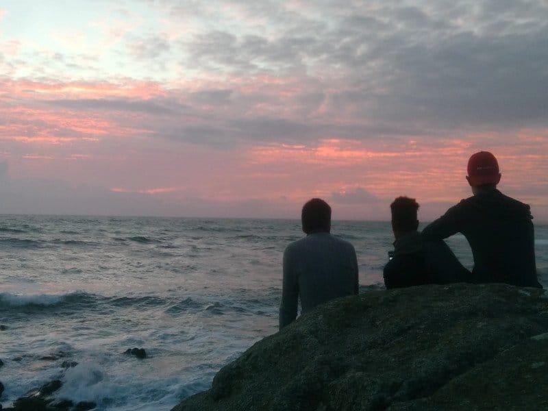 surfers in La Torche