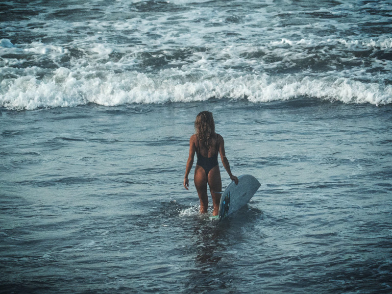 surfing in Canggu