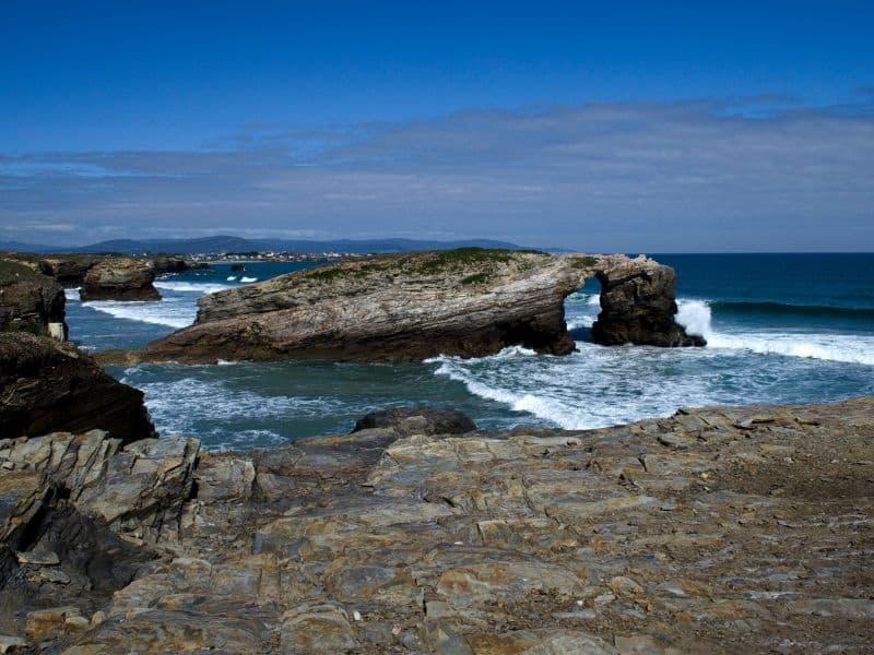 Rocky coast in Galicia