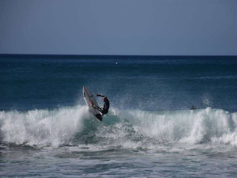 A surfer in Portugal