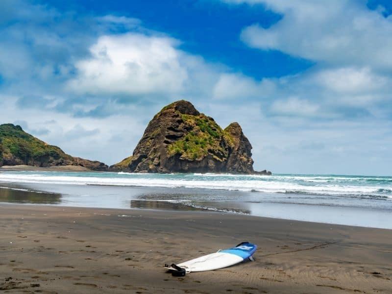 Surfboard in Piha