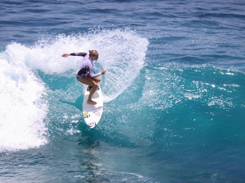 A surfer in Uluwatu