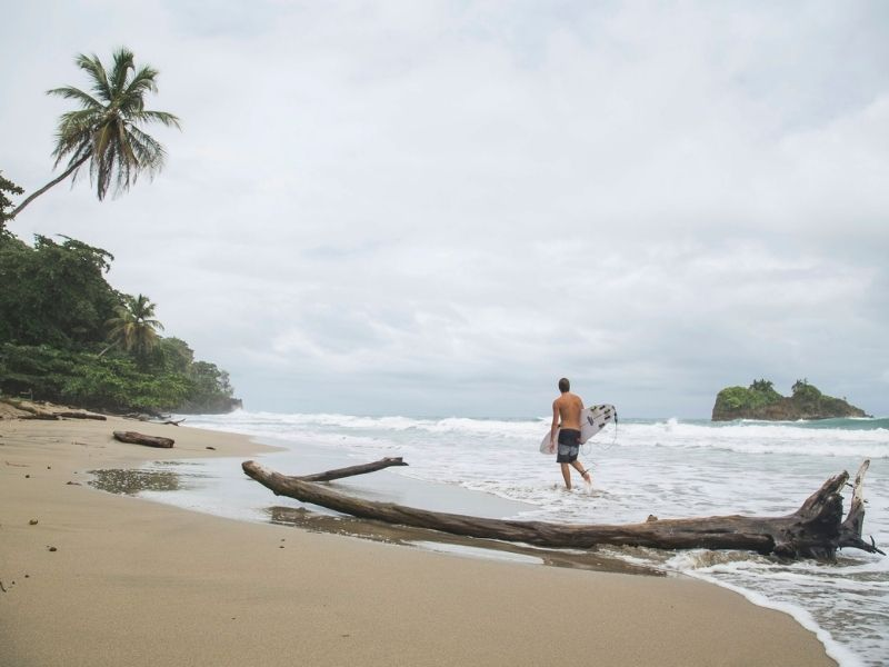 Surfing in the Costa Rica Caribbean