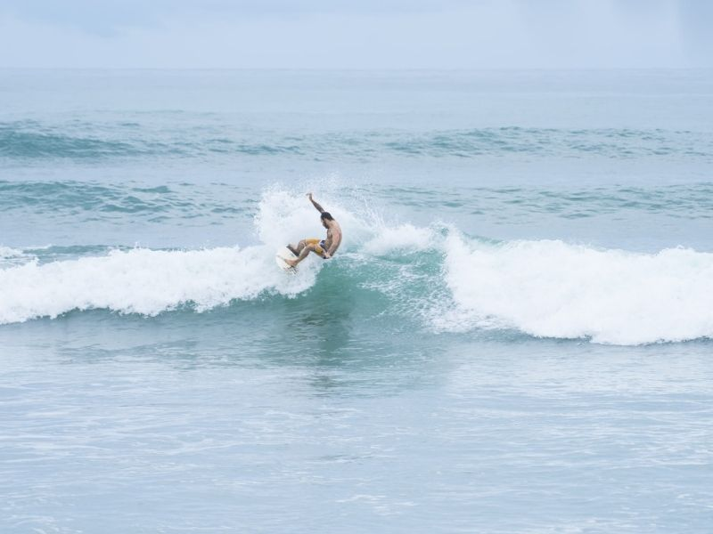 Surfing in the Costa Rica Pacific