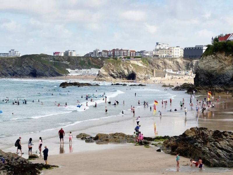The Bay surf in Newquay