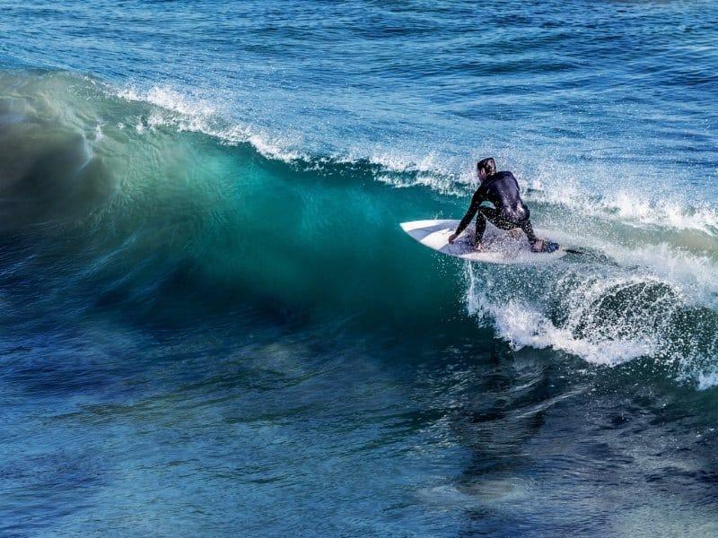 Surfing in Malibu USA