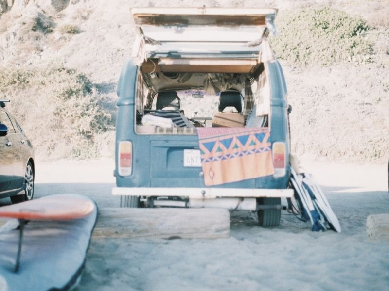 Surfing in the USA with camper