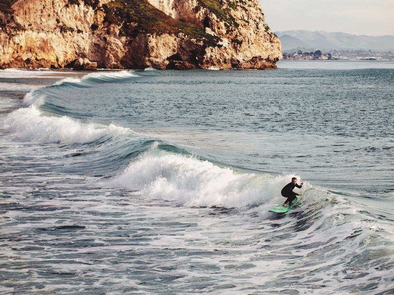 surfing on the West Coast