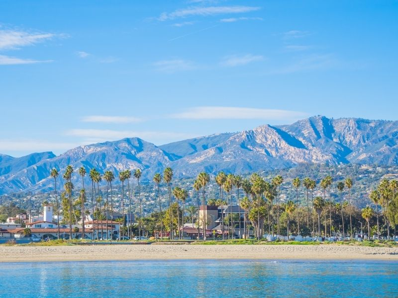 Santa Barbara surf setting