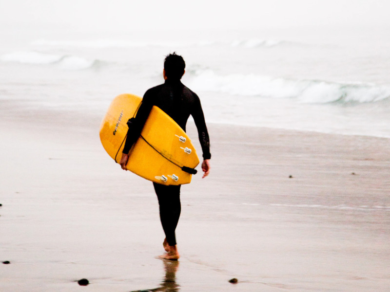 surfer in Carlsbad