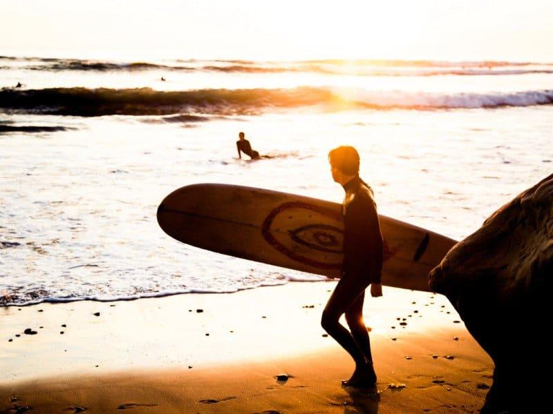 surfing in Carlsbad